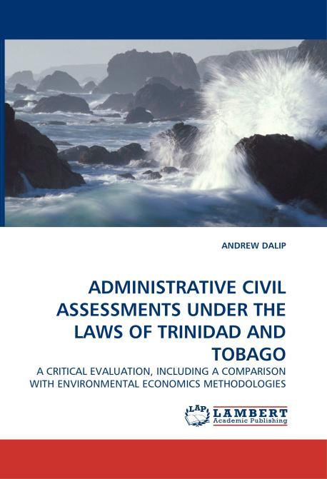 ADMINISTRATIVE CIVIL ASSESSMENTS UNDER THE LAWS OF TRINIDAD AND TOBAGO. Edition No. 1 - Product Image