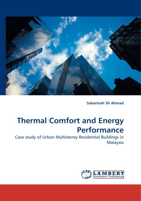 Thermal Comfort and Energy Performance. Edition No. 1 - Product Image