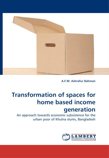 Transformation of spaces for home based income generation. Edition No. 1 - Product Image