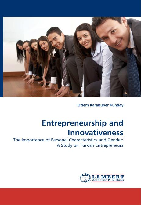 Entrepreneurship and Innovativeness. Edition No. 1 - Product Image