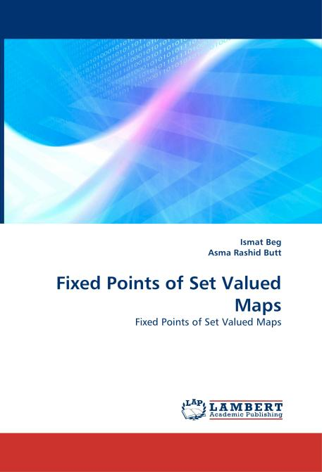 Fixed Points of Set Valued Maps. Edition No. 1 - Product Image