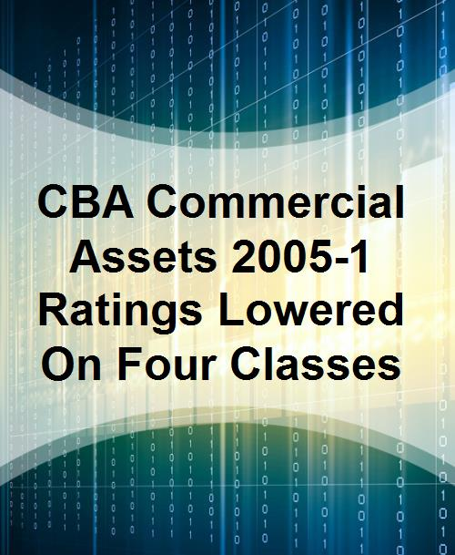 CBA Commercial Assets 2005-1 Ratings Lowered On Four Classes - Product Image