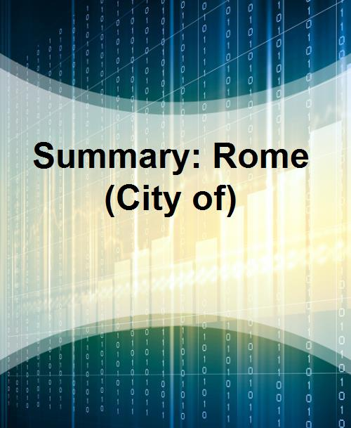 Summary: Rome (City of) - Product Image