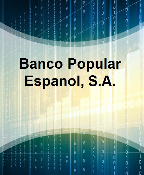 Banco Popular Espanol, S.A. - Product Image