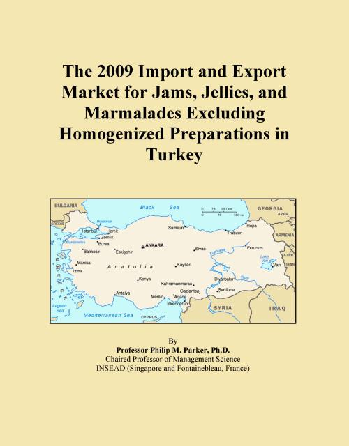 The 2009 Import and Export Market for Jams, Jellies, and Marmalades Excluding Homogenized Preparations in Turkey - Product Image