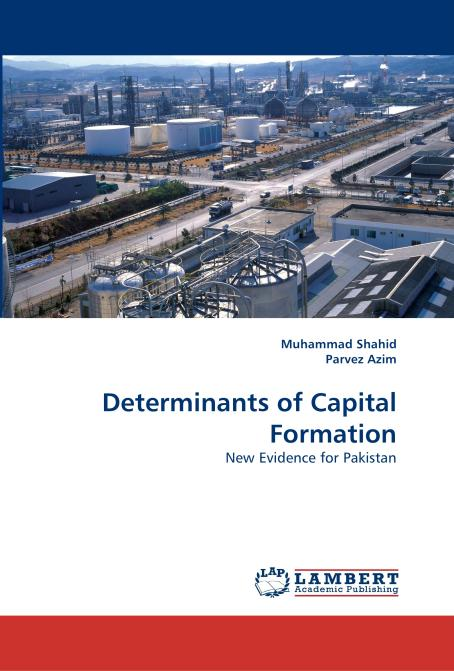 Determinants of Capital Formation. Edition No. 1 - Product Image