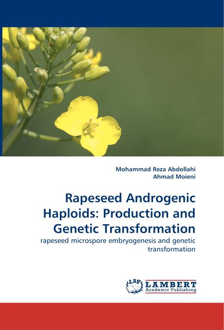 Rapeseed Androgenic Haploids: Production and Genetic Transformation. Edition No. 1 - Product Image