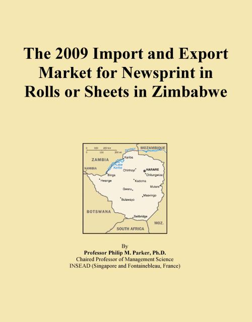 The 2009 Import and Export Market for Newsprint in Rolls or Sheets in Zimbabwe - Product Image