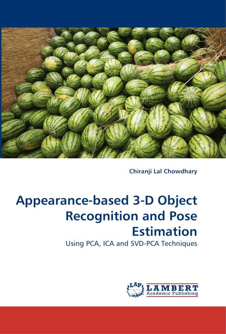 Appearance-based 3-D Object Recognition and Pose Estimation. Edition No. 1 - Product Image