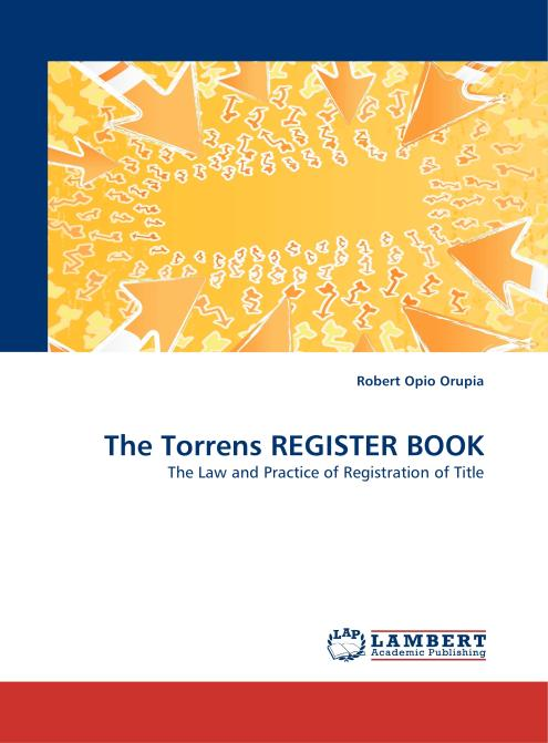 The Torrens REGISTER BOOK. Edition No. 1 - Product Image