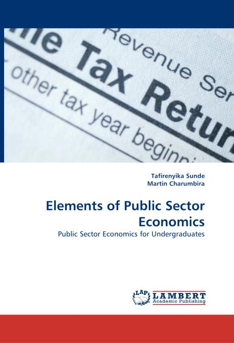 Elements of Public Sector Economics. Edition No. 1 - Product Image