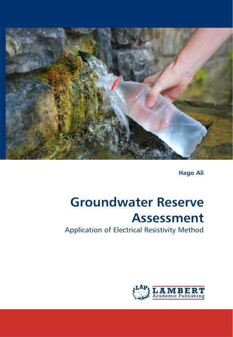 Groundwater Reserve Assessment. Edition No. 1 - Product Image