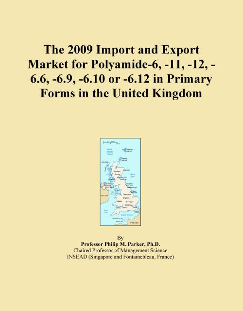 The 2009 Import and Export Market for Polyamide-6, -11, -12, -6.6, -6.9, -6.10 or -6.12 in Primary Forms in the United Kingdom - Product Image
