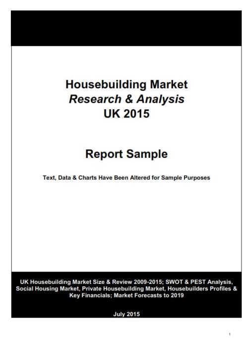 House Building Market Research  Analysis Uk