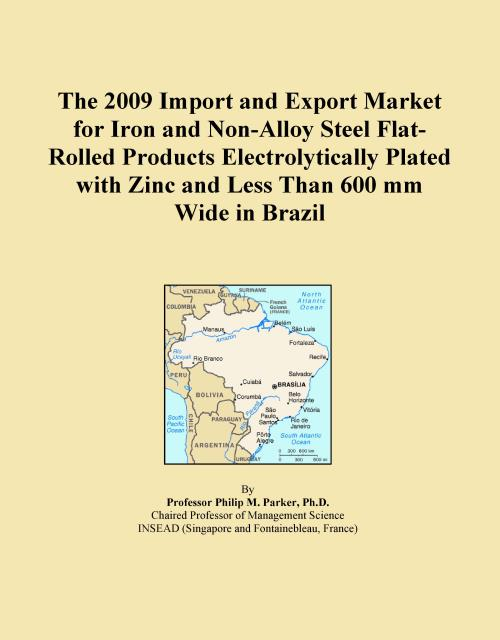 The 2009 Import and Export Market for Iron and Non-Alloy Steel Flat-Rolled Products Electrolytically Plated with Zinc and Less Than 600 mm Wide in Brazil - Product Image