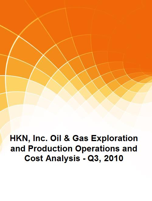 HKN, Inc. Oil & Gas Exploration and Production Operations and Cost Analysis - Q3, 2010 - Product Image