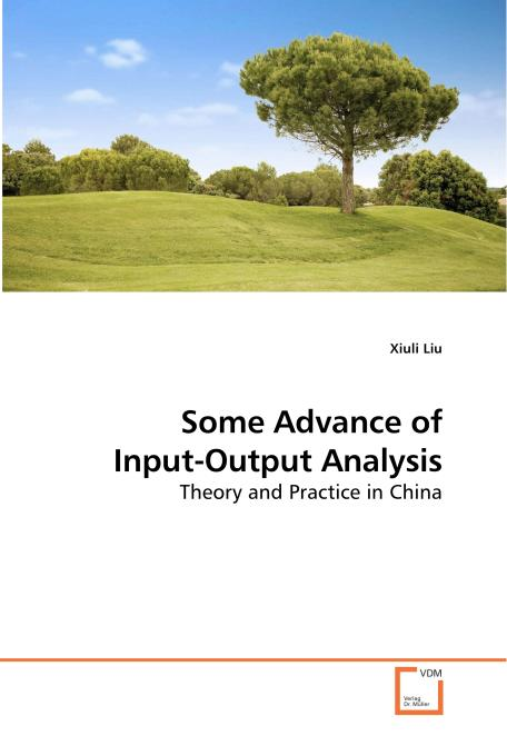 Some Advance of Input-Output Analysis. Edition No. 1 - Product Image