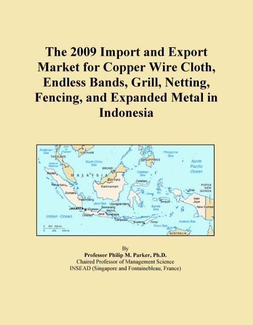 The 2009 Import and Export Market for Copper Wire Cloth, Endless Bands, Grill, Netting, Fencing, and Expanded Metal in Indonesia - Product Image