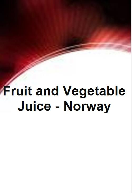 Fruit and Vegetable Juice - Norway - Product Image