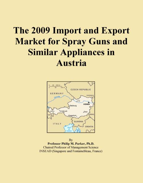 The 2009 Import and Export Market for Spray Guns and Similar Appliances in Austria - Product Image