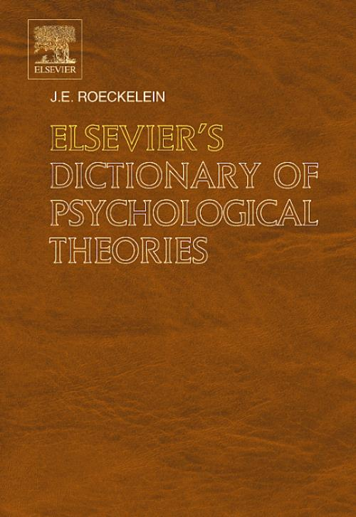 Elsevier's Dictionary of Psychological Theories - Product Image