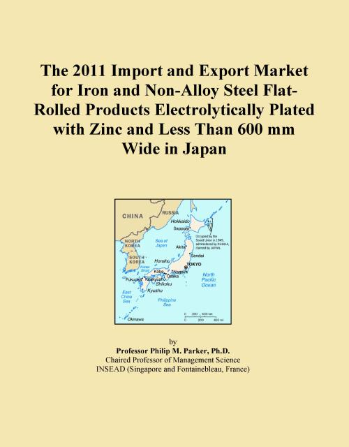 The 2011 Import and Export Market for Iron and Non-Alloy Steel Flat-Rolled Products Electrolytically Plated with Zinc and Less Than 600 mm Wide in Japan - Product Image