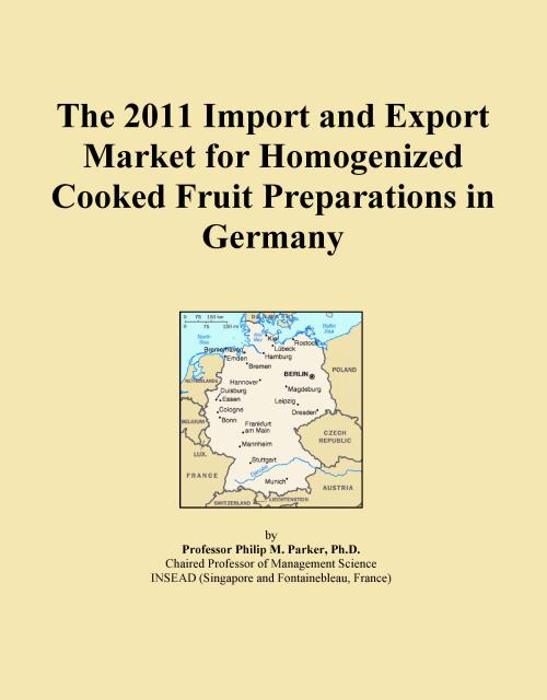 The 2011 Import and Export Market for Homogenized Cooked Fruit Preparations in Germany - Product Image