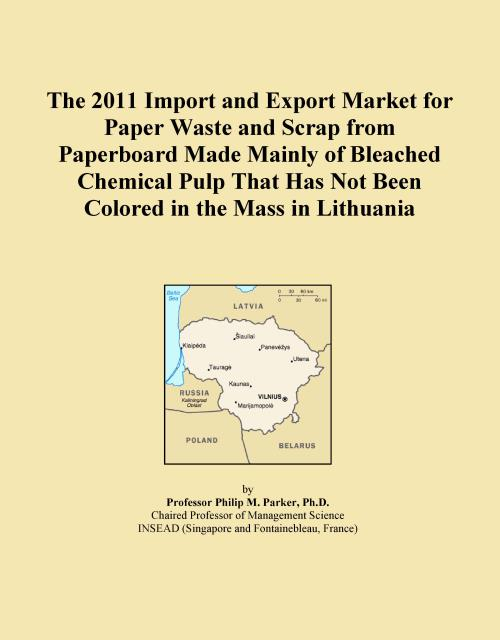 The 2011 Import and Export Market for Paper Waste and Scrap from Paperboard Made Mainly of Bleached Chemical Pulp That Has Not Been Colored in the Mass in Lithuania - Product Image