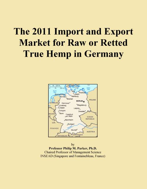 The 2011 Import and Export Market for Raw or Retted True Hemp in Germany - Product Image