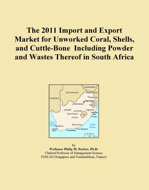 The 2011 Import and Export Market for Unworked Coral, Shells, and Cuttle-Bone Including Powder and Wastes Thereof in South Africa - Product Image