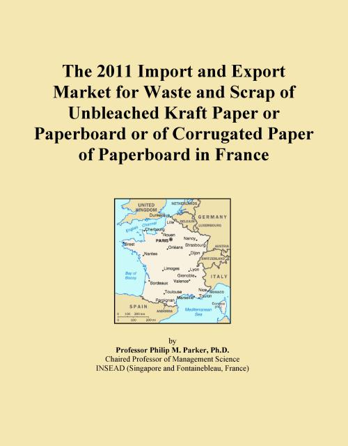 The 2011 Import and Export Market for Waste and Scrap of Unbleached Kraft Paper or Paperboard or of Corrugated Paper of Paperboard in France - Product Image