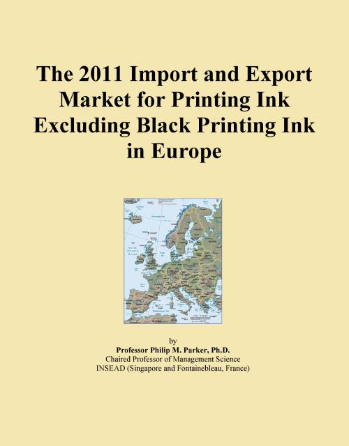 The 2011 Import and Export Market for Printing Ink Excluding Black Printing Ink in Europe - Product Image