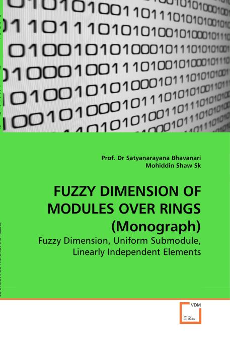 FUZZY DIMENSION OF MODULES OVER RINGS (Monograph). Edition No. 1 - Product Image