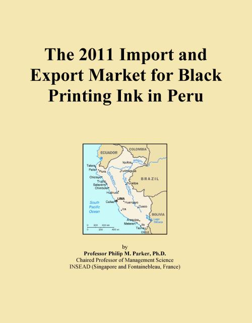 The 2011 Import and Export Market for Black Printing Ink in Peru - Product Image
