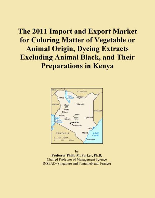 The 2011 Import and Export Market for Coloring Matter of Vegetable or Animal Origin, Dyeing Extracts Excluding Animal Black, and Their Preparations in Kenya - Product Image