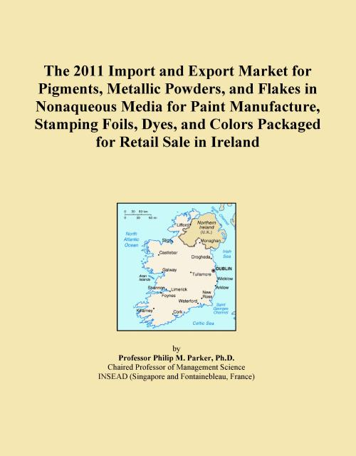 The 2011 Import and Export Market for Pigments, Metallic Powders, and Flakes in Nonaqueous Media for Paint Manufacture, Stamping Foils, Dyes, and Colors Packaged for Retail Sale in Ireland - Product Image