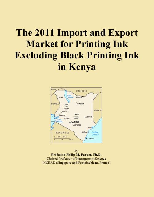 The 2011 Import and Export Market for Printing Ink Excluding Black Printing Ink in Kenya - Product Image