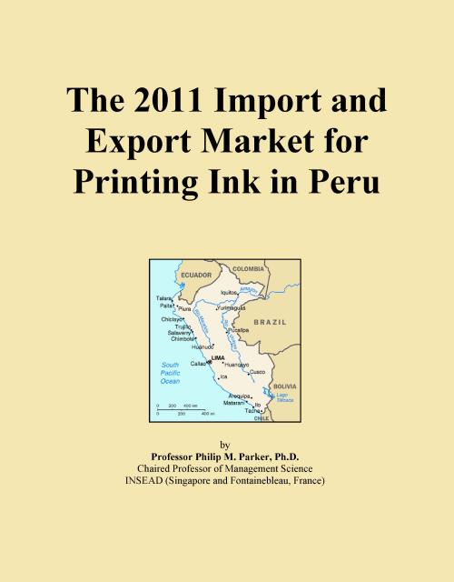The 2011 Import and Export Market for Printing Ink in Peru - Product Image