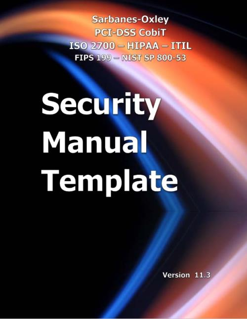Security Manual Template Version 114 Research and Markets – Security Manual Template