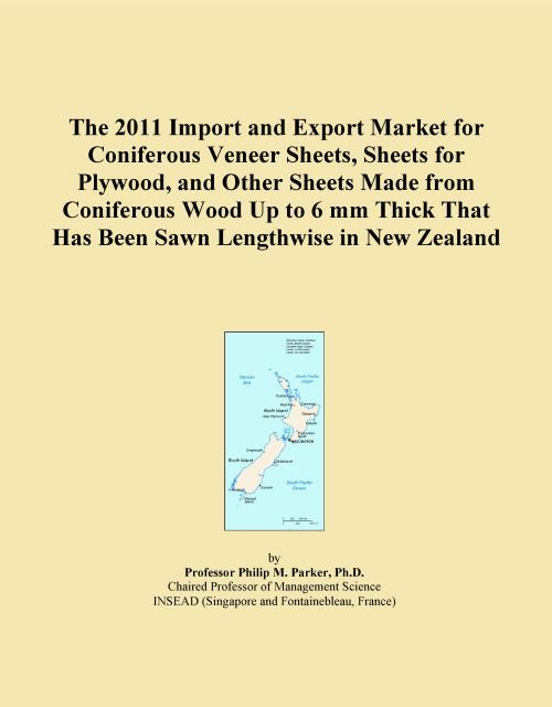 The 2011 Import and Export Market for Coniferous Veneer Sheets, Sheets for Plywood, and Other Sheets Made from Coniferous Wood Up to 6 mm Thick That Has Been Sawn Lengthwise in New Zealand - Product Image