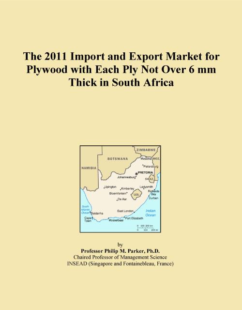 The 2011 Import and Export Market for Plywood with Each Ply Not Over 6 mm Thick in South Africa - Product Image