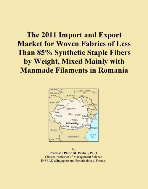 The 2011 Import and Export Market for Woven Fabrics of Less Than 85% Synthetic Staple Fibers by Weight, Mixed Mainly with Manmade Filaments in Romania - Product Image