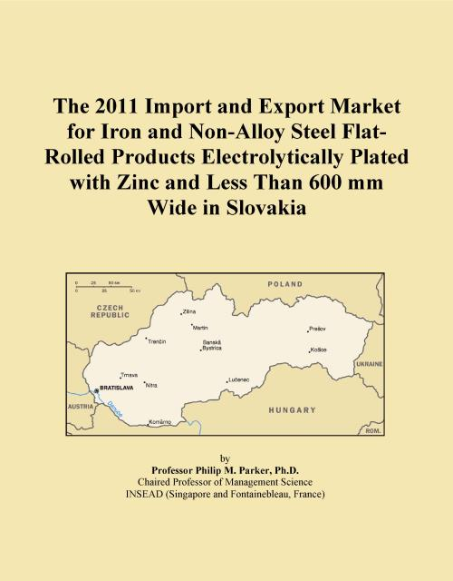 The 2011 Import and Export Market for Iron and Non-Alloy Steel Flat-Rolled Products Electrolytically Plated with Zinc and Less Than 600 mm Wide in Slovakia - Product Image