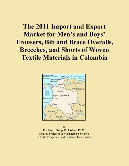 The 2011 Import and Export Market for Men's and Boys' Trousers, Bib and Brace Overalls, Breeches, and Shorts of Woven Textile Materials in Colombia - Product Image