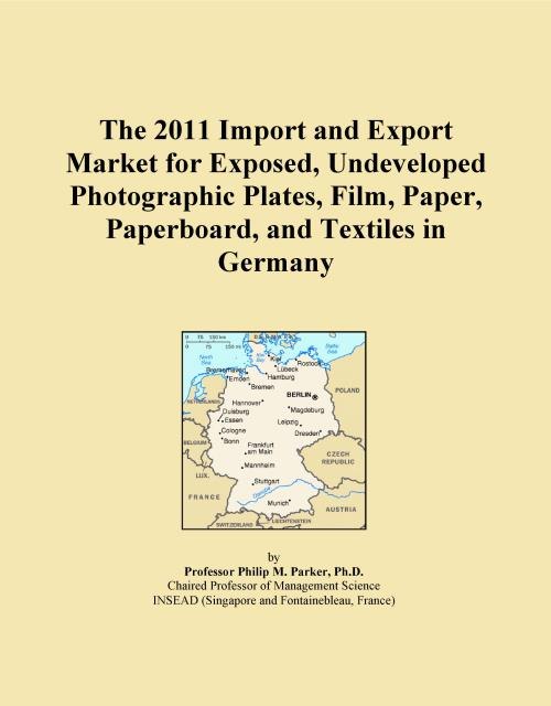 The 2011 Import and Export Market for Exposed, Undeveloped Photographic Plates, Film, Paper, Paperboard, and Textiles in Germany - Product Image