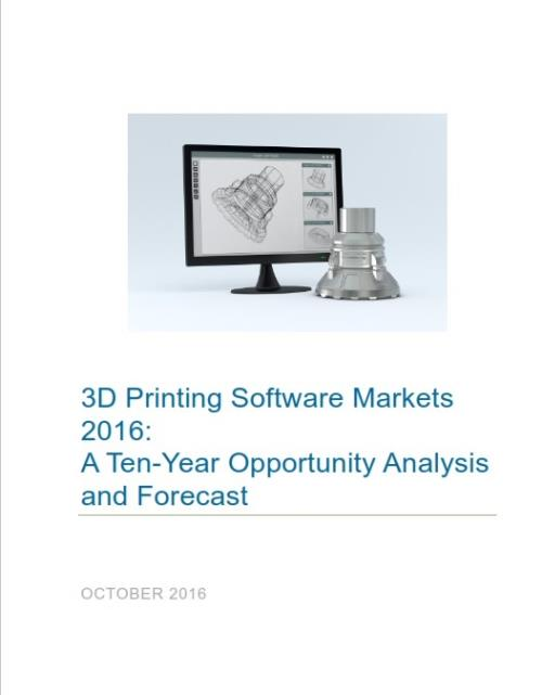 3d Printing Software Markets 2016 A Ten Year Forecast