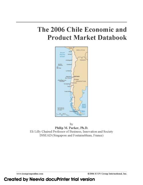 The 2006 Chile Economic and Product Market Databook - Product Image