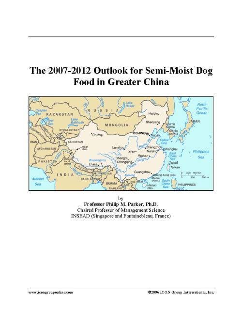 The 2007-2012 Outlook for Semi-Moist Dog Food in Greater China - Product Image