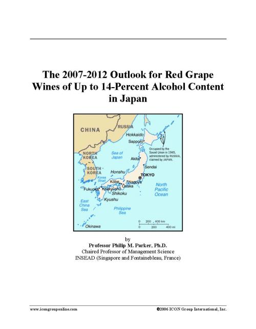 The 2007-2012 Outlook for Red Grape Wines of Up to 14-Percent Alcohol Content in Japan - Product Image