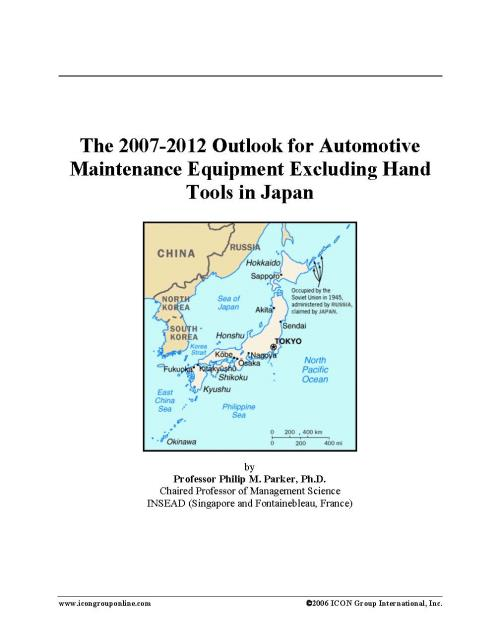 The 2007-2012 Outlook for Automotive Maintenance Equipment Excluding Hand Tools in Japan - Product Image